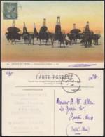 """Tunisie -CP 1908 """"Caravane Dans Le Désert + Chameaux """" (6G20217) DC1055 - Tunisie"""