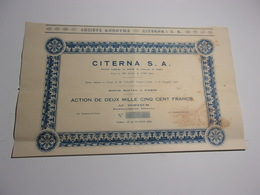 CITERNA S. A. (1932) - Non Classés