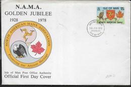 F.D.C. - GOLDEN JUBILEE -  10.06.1978 SU BUSTA GRANDE 19X13 - Man (Ile De)