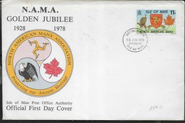 F.D.C. - GOLDEN JUBILEE -  10.06.1978 SU BUSTA GRANDE 19X13 - Isola Di Man