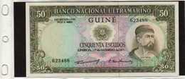 Banconota Guinea Portoghese, Mai Circolata, 50 Escudos, 1971- 12- 17 - Guinea