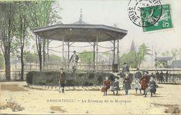 Argenteuil - Le Kiosque De La Musique - Edition L. Rabot - Carte Animée, Colorisée - Argenteuil