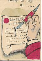 Carte 1904 / Humour / Coup Canif  / Contrat Mariage/ Illustrateur RUAM N° 105 /Tampon Ambulant CHALINDREY à Is Sur Tille - Humour