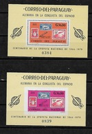 #B140# PARAGUAY MICHEL BL 83-84 MNH** MUESTRA, SPACE. - Paraguay