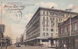 183029Johannesburg, Commissioner Street With Carlton Hotel (postmark 1908) - Afrique Du Sud