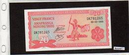 Banconota Burundi, Mai Circolata, 20 Franchi  05.02.2005 - Burundi