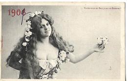 Carte 1907 / Humour / Fleurs Pour étrennes/ Edition BERGERET Nancy  /Tampon Ambulant MERREY à LANGRES - Humour