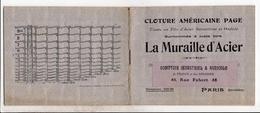 Pub La Cloture Americaine La Muraille D Acier Rue Fabert Paris - Publicités