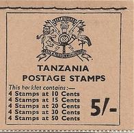 TANZANIA, 1967, Booklet 9, Fish 5/- - Tanzanie (1964-...)