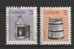MiNr. 855, 856 Kanada (Dominion), 1982, 19. Okt./1985. Freimarken: Alte Gebrauchsgegenstände. - Oblitérés