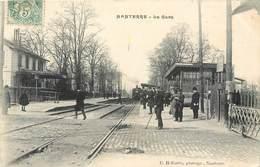 CPA 92 Hauts De Seine Nanterre La Gare Et Arrivée D'un Train Chemin De Fer 1907 - Nanterre