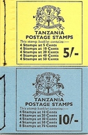 TANZANIA, 1973, Booklet 13/14, Butterflies  5/- - 10/- - Tanzanie (1964-...)