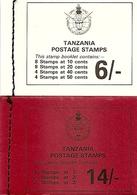 TANZANIA, 1980, Booklet 15/16, Wildlife 6/-, 14/- - Tanzania (1964-...)