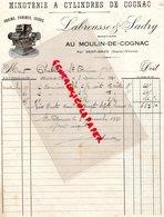 87- SAINT BRICE SUR VIENNE-RARE FACTURE LABROUSSE & SADRY-MINOTERIE A CYLINDRES DE COGNAC-MOULIN DE COGNAC- 1931 - Petits Métiers