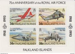 Falkland Islands 1993 Royal Air Force (RAF) M/s  ** Mnh (41472) - Falklandeilanden