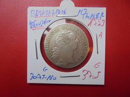 "BRANDENBURG-PREUSSEN 1/3 THALER 1773 ""A""  ARGENT - Taler Et Doppeltaler"