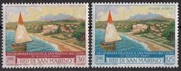 San Marino 1960 Bf.543-A136 Mostra Filatelica - Barca E Riccione Full Set MNH - Barche