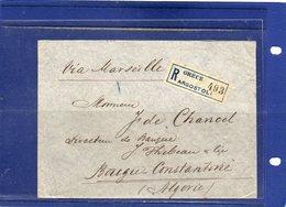 ##(ROYBOX1)-Postal History-Greece 1907- Registered Cover From Argostoli  To  Bougie-Constantine (Algeria)  Via Marseille - 1906 Secondi Giochi Olimpici