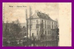 Feluy *  Le Chateau Drion ( Scan Recto Et Verso ) Usure Coté Droit - Belgique