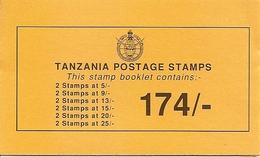 TANZANIA, 1990, Booklet 19, Birds 174/- - Tanzania (1964-...)