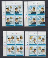 Falkland Islands 1989 Falkland Islands Battles 4v Bl Of 4 (corners) ** Mnh (41472B) - Falklandeilanden