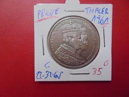 """PRUSSE THALER 1861 """"JUBILEE""""  ARGENT - Taler Et Doppeltaler"""