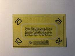 Allemagne Notgeld Allemagne Esens 25 Pfennig - [ 3] 1918-1933 : République De Weimar
