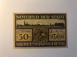 Allemagne Notgeld Allemagne Graefenhainichen 50 Pfennig - [ 3] 1918-1933 : République De Weimar