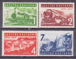 68-896 / BG - 1939  50 YEARS RAILWAY  Mi 354/57 *** - Neufs