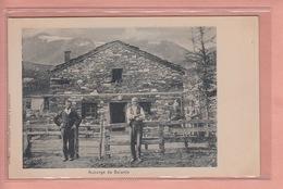 OUDE POSTKAART ZWITSERLAND - SCHWEIZ -    AUBERGE DE SALANFE - GEANIMEERD 1900'S - VS Valais