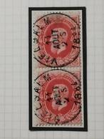 COB N°34 (paire Verticale), Oblitération Vielsalm 1884 - 1869-1883 Léopold II