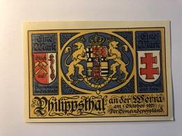 Allemagne Notgeld Allemagne Philippesthal 1 Mark - [ 3] 1918-1933 : République De Weimar