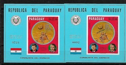 #B141A# PARAGUAY MICHEL BL 137+137 MUESTRA MNH**, SPACE. - Paraguay
