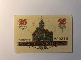 Allemagne Notgeld Allemagne Verden 25 Pfennig - [ 3] 1918-1933 : République De Weimar
