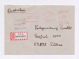 R-Brief, Einschreiben AFS - SCHWERTE, 58222 Von 1997 - BRD