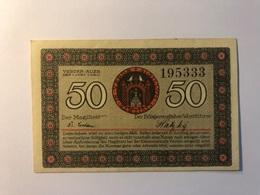 Allemagne Notgeld Allemagne Verden 50 Pfennig - [ 3] 1918-1933 : République De Weimar