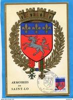 Marcophlie-Réunion-carte Maximum-Saint Lo--cad Saint Joseph-22-06-1969-N°386 - Lettres & Documents