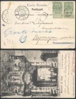 A185 Carte De Testelt ( Relais ) à Nijmegen ( Pays Bas Netherlands ) 1906 - 1893-1907 Coat Of Arms