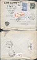 A191 Lettre Recommandée De Genval à Bruxelles 1950 Librairie - 1948 Exportación
