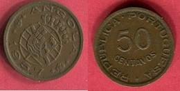 50 CENTAVOS 1957  ( KM 75) TB+ 1,5 - Angola