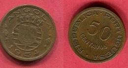 50 CENTAVOS 1954  ( KM 75) TB+ 1,5 - Angola