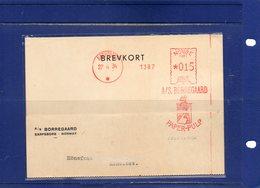 ##(ROYBOX1)-Postal History-Norway 1934- Red EMA-Meter A/S. Borregaaard  Paper-Pulp On Postcard From Saarpsborg - Norvegia