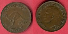 1 PENNY 1949  ( KM 43) TB+ 2 - Monnaie Pré-décimale (1910-1965)