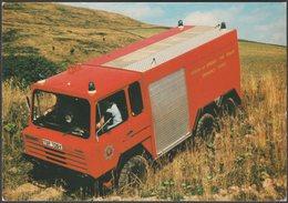 Lothian And Borders Fire Brigade Stonefield Emergency Tender - Advice Postcard - Trucks, Vans &  Lorries