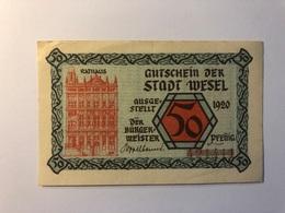 Allemagne Notgeld Allemagne Wesel 50 Pfennig - [ 3] 1918-1933 : République De Weimar