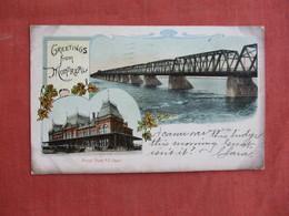 Canada > Quebec > Montreal Greetings   Bridge  & Train Station    Ref 3094 - Montreal