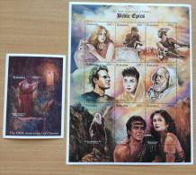 Tanzania 1995 Bible Epics 100th Anniversary Cinema Kino Film Ben Hur Ten Commandments 1 Sheet + 1 Souvenir Sheet MNH** - Tanzania (1964-...)
