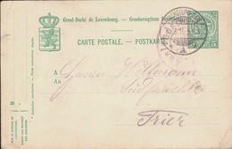 Carte Postale écrite, Cachet Censure Militaire Et Luxembourg-Gare  30.3.1915, Prifix:63  5c. Vert  2Scans - Occupation