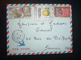LETTRE TP EXPO MONTREAL 67 105 + CITRON 100 + LE VOLAILLER 40 OBL.1-7 1972 SFAX - Tunisia
