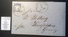"""Bayern 7 Kr Mi. 25Yb Gepr. BPP NÜRNBERG 1873 Brief """"Glas Gebr. Neumark"""" > Weinfelden TG Schweiz  (cover Lettre Verre - Bayern"""